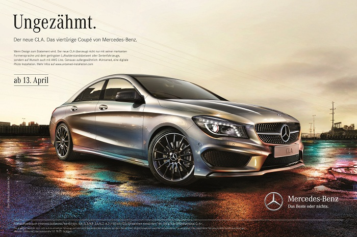 "Mercedes Benz CLA Untamed Campaign 000 Mercedes Benz Goes All Out with CLA ""Untamed"" Campaign"