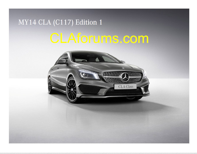 mercedes benz cla order guide 26 Exclusive News: Mercedes Benz 2014 CLA Product Guide Revealed