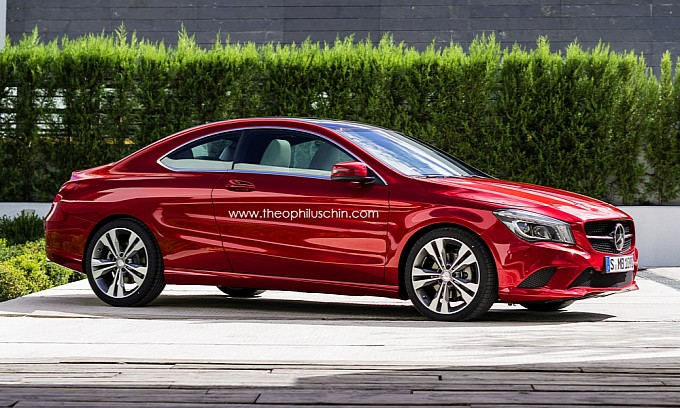 mercedes cla two door coupe rendering medium 2 CLA 2 door Coupe Rendering By T. Chin