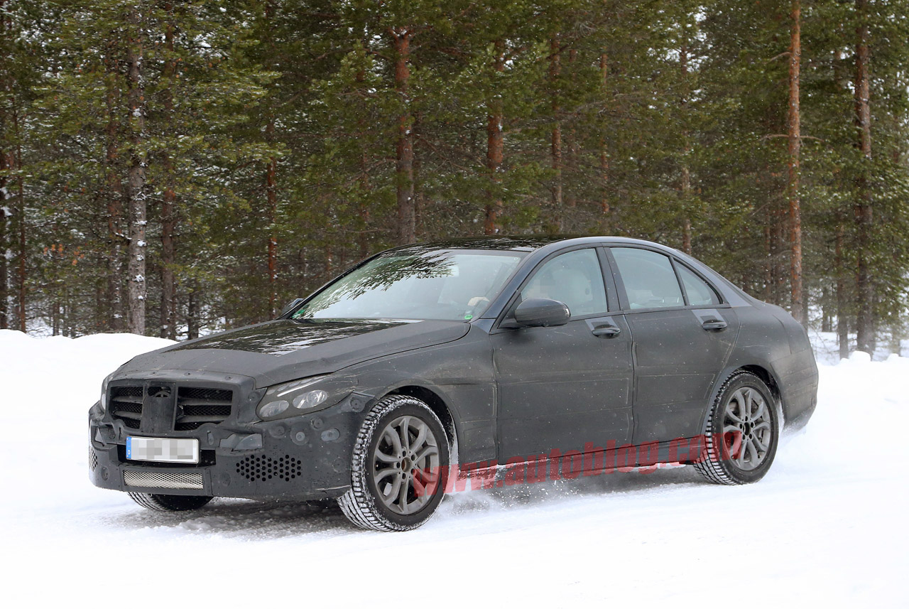 001 mercedes benz c class spy shots New C Class In Camo Revealed By Spies