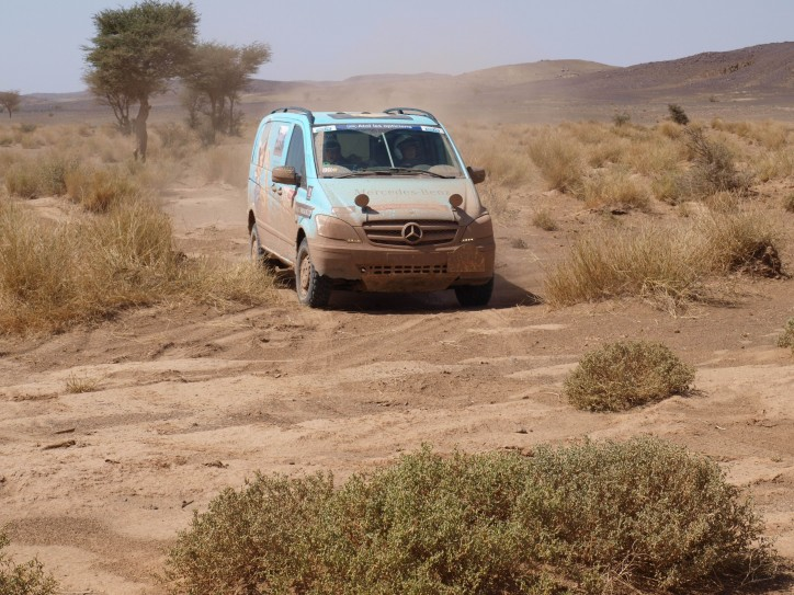 Mercedes-Benz Vans starts with two Sprinter 4x4 and two Vito 4x4 at the Rallye Aïcha des Gazelles 2013.