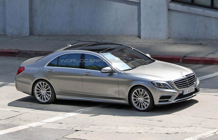 14747733291309731493 724x466 Exclusive News: 2014 Mercedes Benz S Class Totally Sheds Off Its Camo