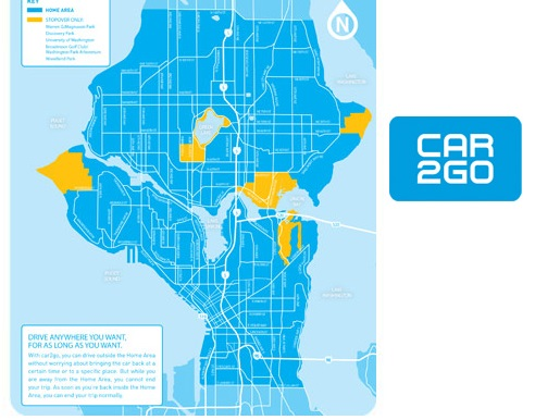 Car2Go Seattle Home Area
