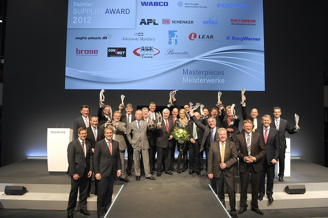 Daimler Best Suppliers Daimler Recognizes Best Suppliers of 2012