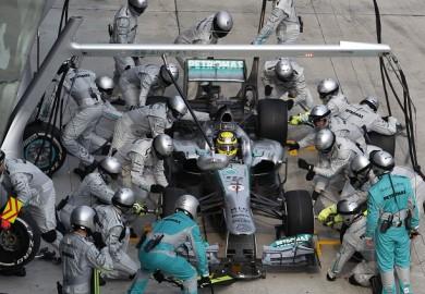 F1 Lewis Hamilton Pit Stop Malaysian Grand Prix
