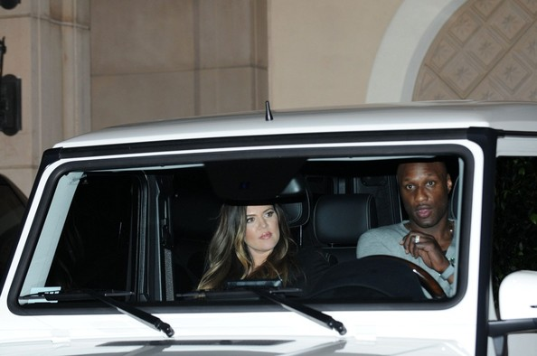 Khloe Kardashian Lamar Odom G Wagon Celebrity Couple Lamar and Khloe Odom Spotted in their G Wagon