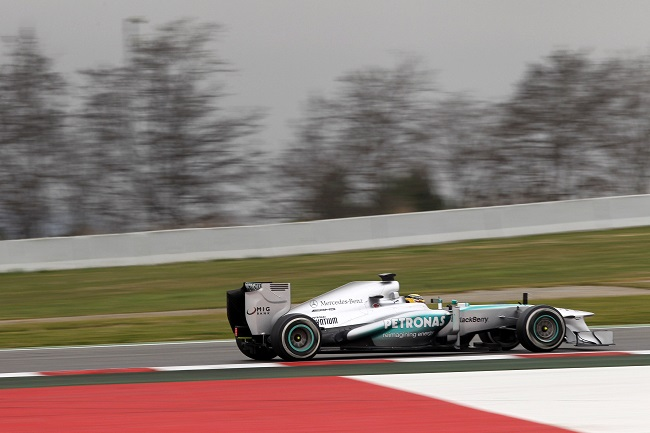 Lewis Hamilton Preseason Barcelona F1 2013 F1: Hamilton Runs 113 Laps, Gets Second Fastest Time in Barcelona Day 1