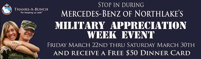 Mercedes-Benz Northlake Military Appreciation Week