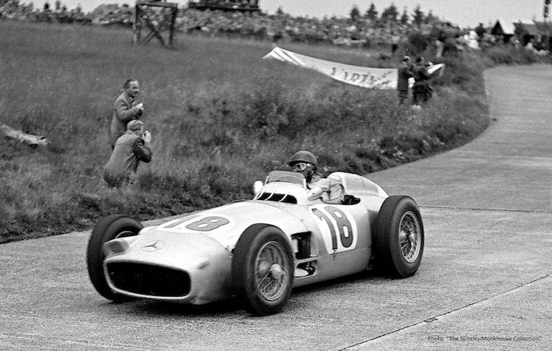 Mercedes Benz W196 Juan Manuel Fangio Fangios 1954 Mercedes Benz W196 F1 Car to be Auctioned at Goodwood Festival of Speed