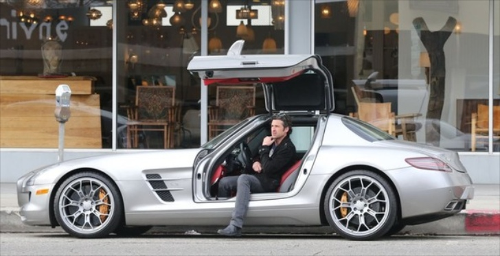 patrick dempsey caught posing in his sls benzinsidercom