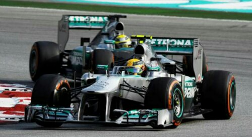 wpid Mercedes AMG Petronas 2013 Malaysian GP Winning with the Mercedes AMG Petronas F1 Team
