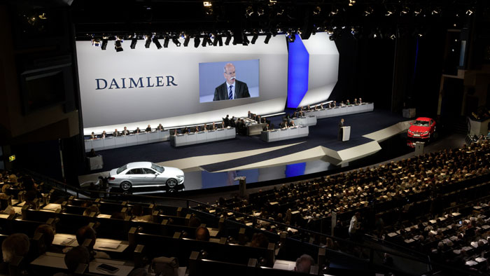 Dr Dieter Zetsche at Daimler AG Annual Shareholders Meeting Daimler to Stay the Course, Continues to Aim for the Top   Zetsche
