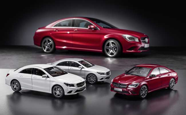 Mercedes benz cla gets model car treatment benzinsider for Mercedes benz toy car models