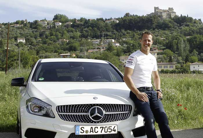 Michael Schumacher and Mercedes Benz Mercedes Benz Partners Up with Michael Schumacher for Safety Development