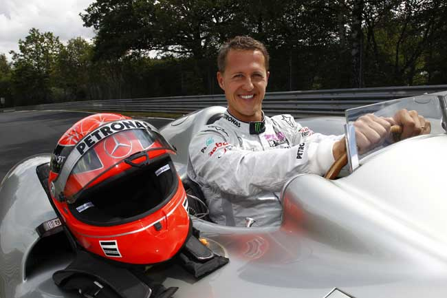 Michael Schumacher to Drive 2011 F1 Car at Nurburgring for Mercedes Benz Michael Schumacher in Critical Condition Following Skiing Accident