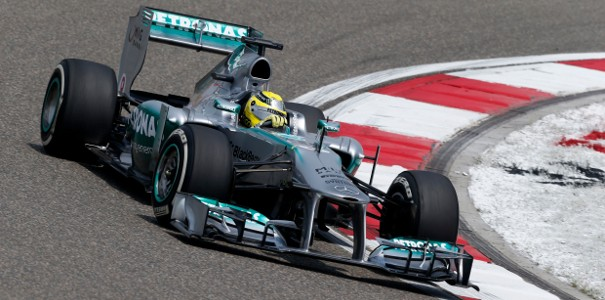 Nico Rosberg Mercedes Chinese Grand Prix Practice Chinese Grand Prix: Mercedes with Strong Performance in Practice Despite an Ailing Hamilton
