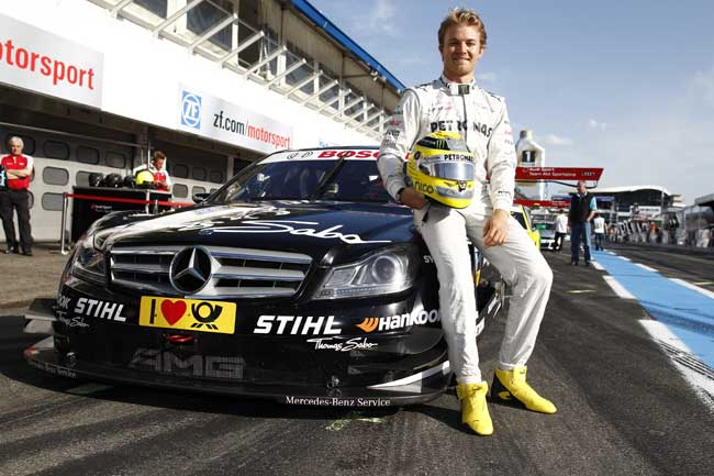 Nico Rosberg at 2013 DTM Opener Hockenheimring Rosberg to Attend DTM Opener, will Drive a Lucky Fan Around Hockenheimring