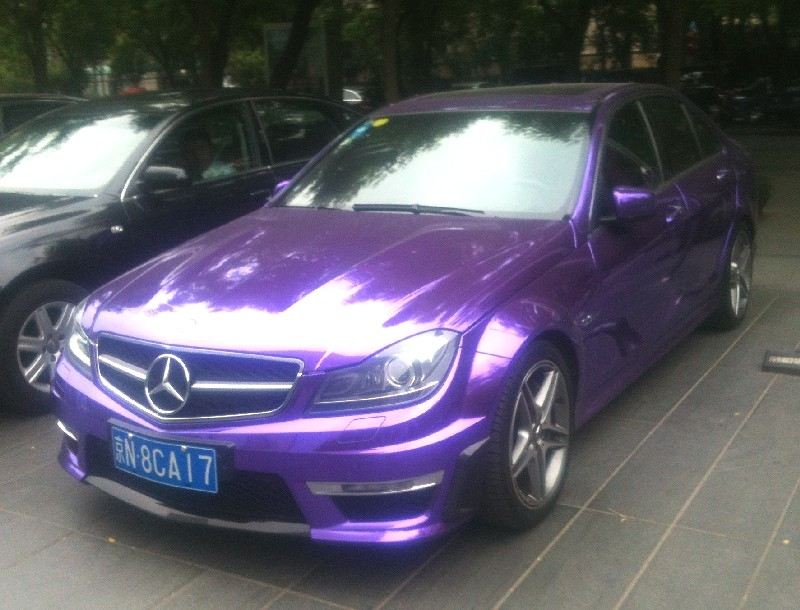 140 Purple Colored Mercedes Benz C63 AMG Emerges In China