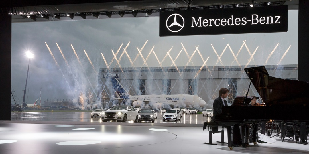 impressive launch event for the new mercedes benz s class
