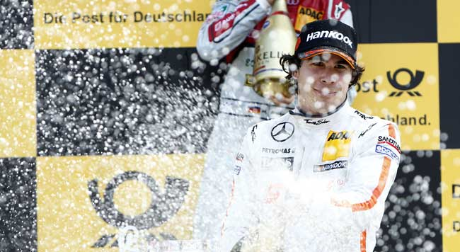 Mercedes-Benz-DTM-Robert-Wickens-First-Podium-Brands-Hatch-2013