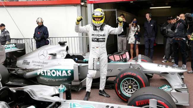 Nico Rosberg F1 Pole Position 2013 Monaco Grand Prix [F1] Rosberg on Pole, Mercedes in Front Row for Monaco GP