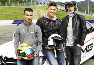 Pascal-Wehrlein-Andreas-Ivanschitz-Sebastian-Prodl-DTM-Driver-Training-Exercise