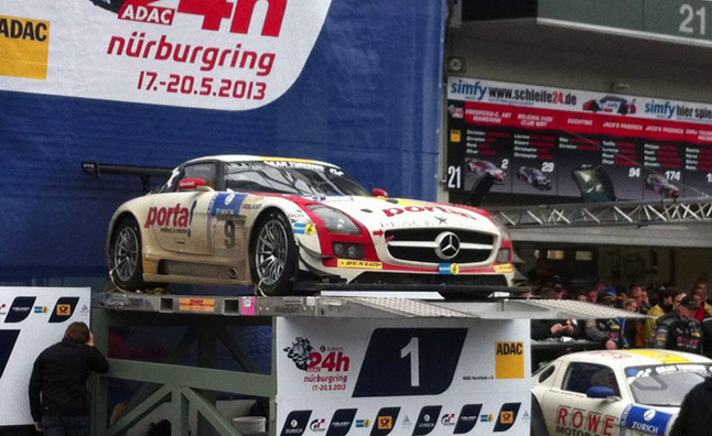 black falcon mercedes sls amg Mercedes Benz SLS AMG GT3 Victorious At Nurburgring 24 Hours