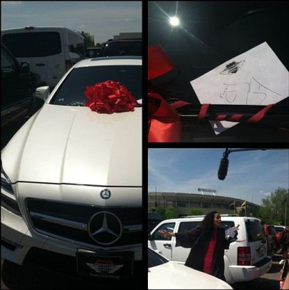 sklar diggins graduation gift Roc Nation Gifts Skylar Diggins With A New 2013 Mercedes Benz SUV