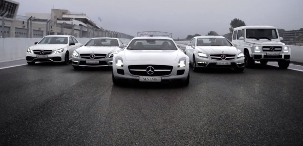 1 Mercedes Benz AMG Ad Featuring Russian Stars