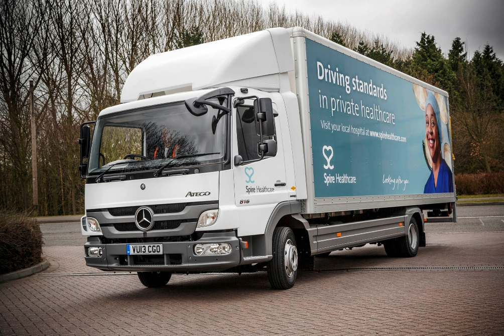 114 Mercedes Benz Atego 816 To Replace Old Fleet Of Spire Healthcare