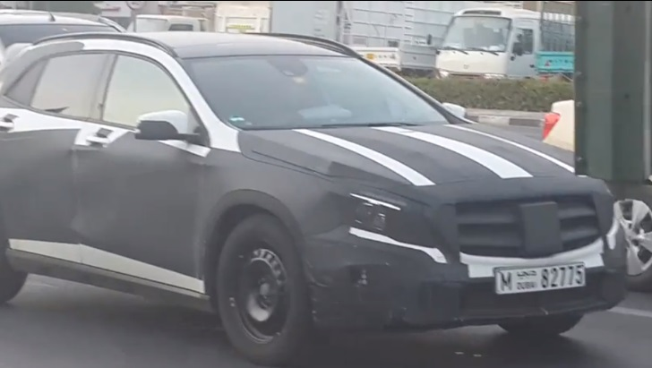 133 Mercedes Benz GLA Class Crossover Prototype Make An Appearance In Dubai