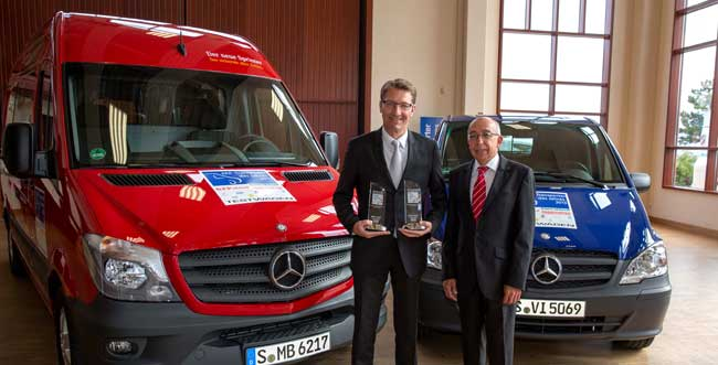 Mercedes Benz Vans Courier Express and Parcel Services Van of the Year Mercedes Benz Vans Win More Awards