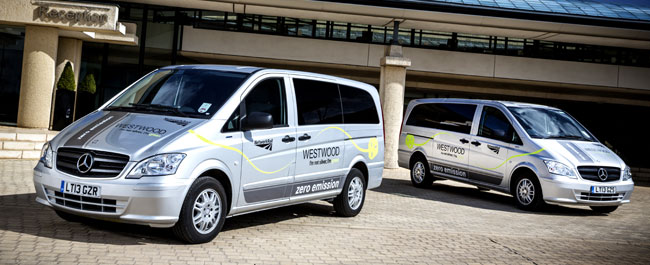 Mercedes Benz Vito E CELL minibuses Britains Network Rail to Use Mercedes Benz Vito E CELL as Staff Shuttle