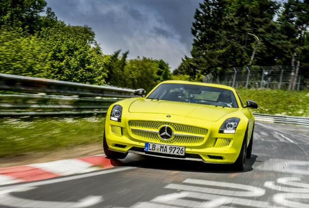 sls electric drive Mercedes Benz SLS AMG Electric Drive Achieves a New World Record