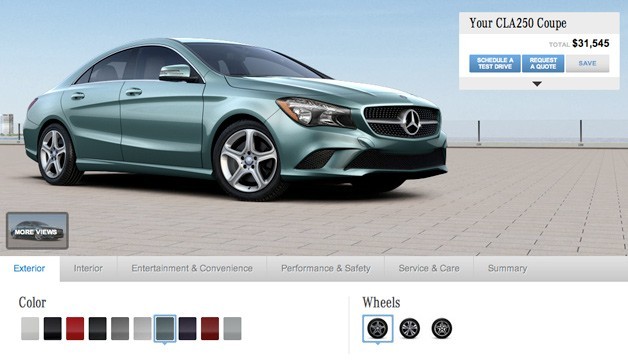 1 Configurator For The 2014 Mercedes Benz CLA Launched
