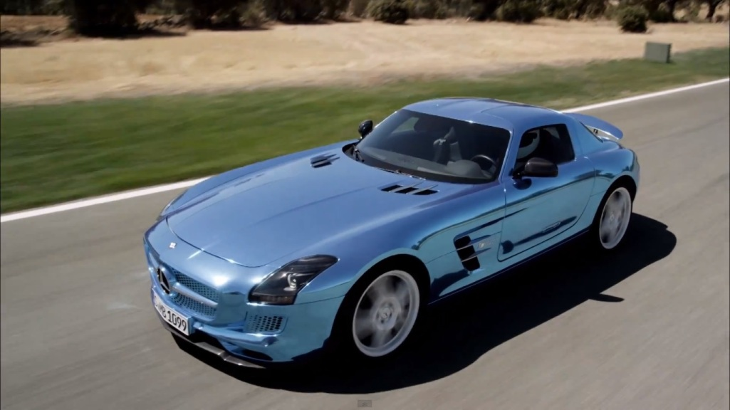 313 Mercedes Benz SLS AMG Coupe Electric Drive Combines Eco Friendly Features With Power