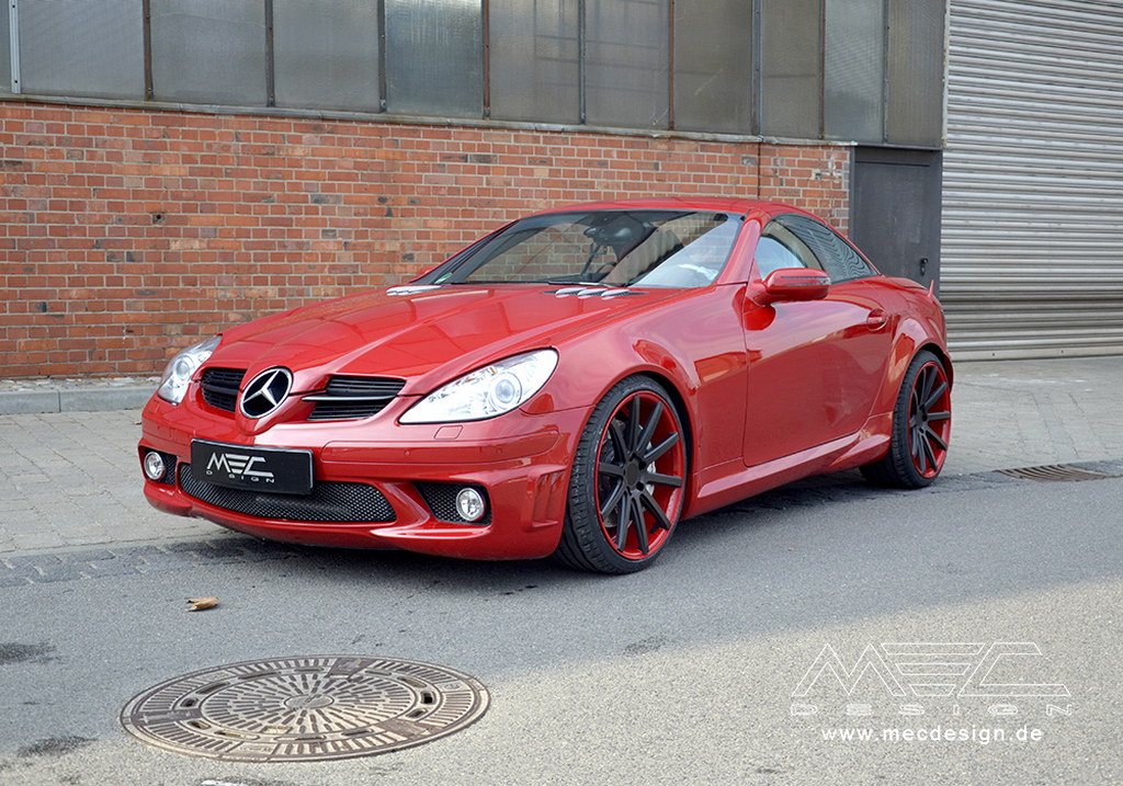 mec design tunes old mercedes benz slk 55 amg. Black Bedroom Furniture Sets. Home Design Ideas