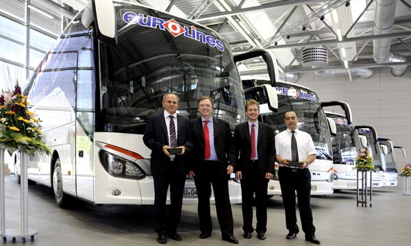 Deutsche Touring Takes Delivery of Five Setra ComfortClass Buses Five Setra Coaches Delivered to Deutsche Touring GmbH