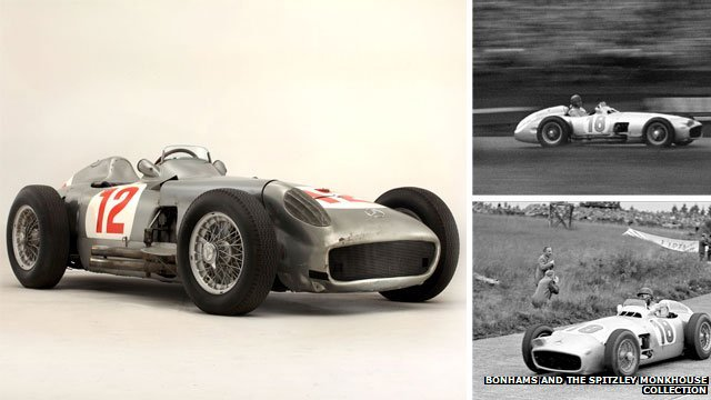 Mercedes W196 Juan Manuel Fangio Mercedes W196 F1 Car Fetches £17.5 Million