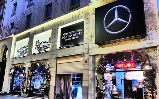 Paris Mercedes Benz Pop Up Store France Reinforces Ban on Mercedes Benz A Class, B Class, CLA Class Sales, Registrations