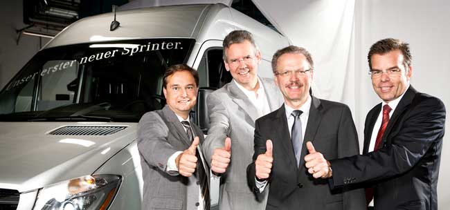 Production of New Mercedes Benz Sprinter Starts at Dusseldorf Facility Production of New Mercedes Benz Sprinter Starts at Dusseldorf Facility