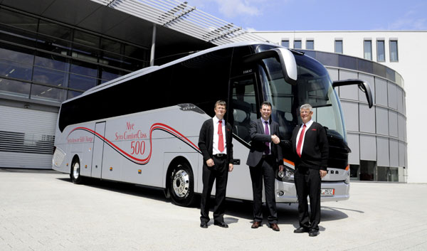 Setra ComfortClass 500 S 516 HD Gunnar Brustad First New ComfortClass 500 Unit in Norway, 500th Setra Delivered in Country Overall