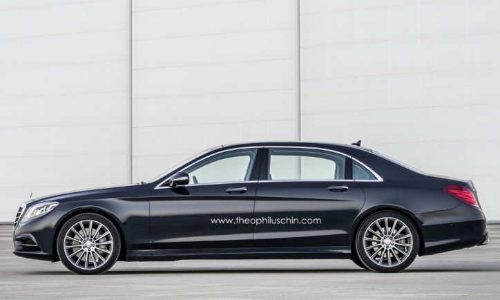 mercedes s600 pullman rendered the maybach successor is classy 1 724x434 New Mercedes Benz S Class Pullman will be More Expensive than Rolls Royce