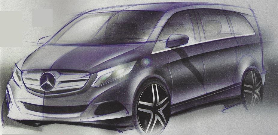 11 Design Sketches Of 2014 Mercedes Benz Viano Emerge