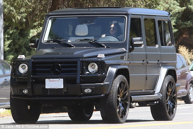 Kylie jenner takes her mercedes benz g class suv out for a for Mercedes benz jeep g class