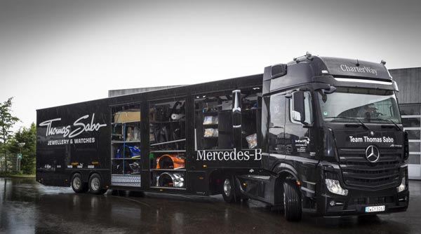 Mercedes AMG DTM Team relies on Mercedes Benz Actros 2 Mercedes Benz DTM Team Relies on Actros Trucks to Journey 2,600km from Germany to Russia