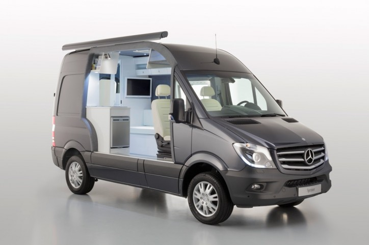 Cut-Away Model Of The Mercedes-Benz Sprinter Caravan Unveiled