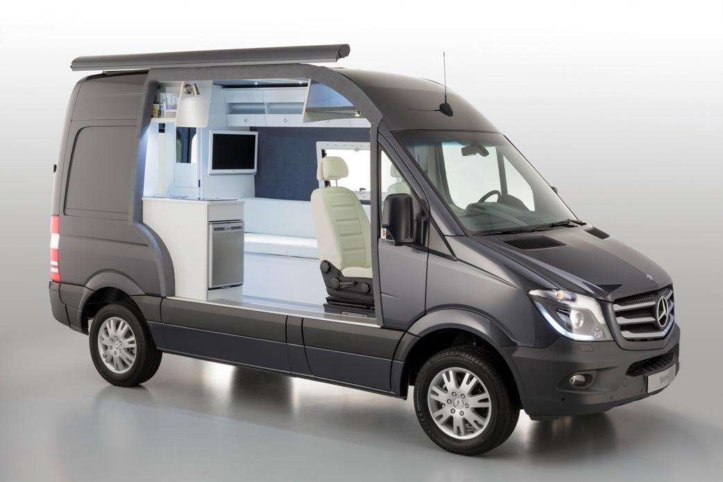 Cut-Away Model Of The Mercedes-Benz Sprinter Caravan Unveiled