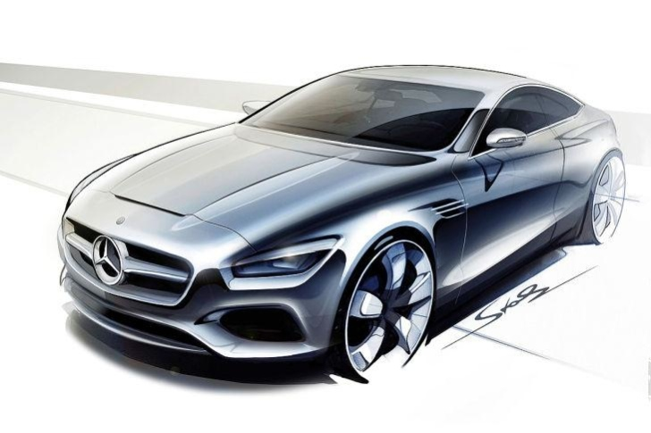 Mercedes Benz S Class Coupe Concept 1 Design Sketches Of Mercedes Benz S Class Coupe Concept Released