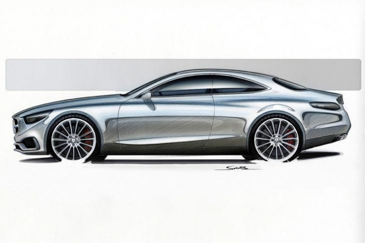 Design Sketches Of Mercedes-Benz S-Class Coupe Concept Released